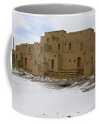 Taos Pueblo With Snow Coffee Mug