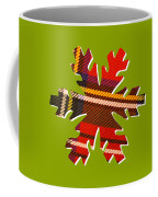 Tartan Snowflake On Green Coffee Mug