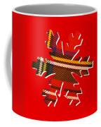 Tartan Snowflake On Red Coffee Mug