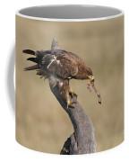 Tawny Eagle With Prey Coffee Mug