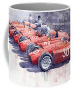 1956 Team Lancia Ferrari D50 Type C 1956 Italian Gp Coffee Mug