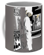 Ted Degrazia Painting Mural With Brush Mexico City C.1941-2013 Coffee Mug
