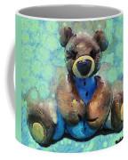 Teddy Bear In Blue Coffee Mug