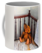 Teddy Bear In Crib Coffee Mug