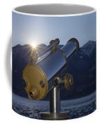 Telescope And Sunrise Coffee Mug