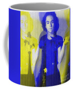 Teller / Early Shadows - Blue And Yellow  Coffee Mug
