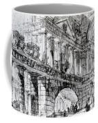 Temple Courtyard Coffee Mug by Giovanni Battista Piranesi