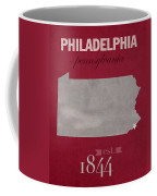 Temple University Owls Philadelphia Pennsylvania College Town State Map Poster Series No 103 Coffee Mug