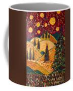 Ten Moons In Scarlet Sky Coffee Mug