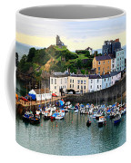 Tenby Harbour Panorama Coffee Mug