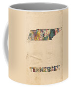 Tennessee Map Vintage Watercolor Coffee Mug