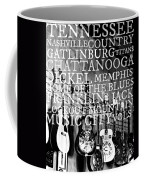 Tennessee Words Sign Coffee Mug by Chastity Hoff