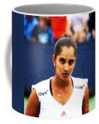 Tennis Player Sania Mirza Coffee Mug by Nishanth Gopinathan