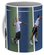 Tennis Serve By Mikhail Youzhny Coffee Mug
