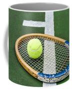 Tennis - Wooden Tennis Racquet Coffee Mug by Paul Ward