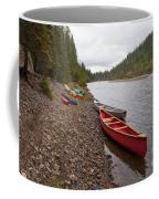 Tents And Canoes At Mcquesten River Yukon Canada Coffee Mug