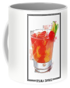Tequila Sunrise Cocktail Marker Sketch Coffee Mug