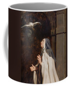 Teresa Of Avilas Vision Of A Dove Coffee Mug