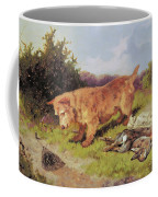 Terrier Watching A Rabbit Trap Coffee Mug