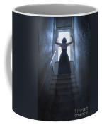 Terrified Woman Alone Coffee Mug