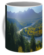 2m9301-teton Range From Snake River Overlook Coffee Mug