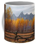 1m9354-teton Range In Autumn From Jackson Hole Ranch Country Coffee Mug
