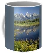 4m9310-teton Range Reflection, Blacktail Pond, Wy Coffee Mug