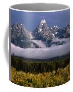 1m9396-tetons Above Fog, Wy Coffee Mug