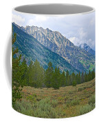 Tetons Above The Meadow In Grand Teton National Park-wyoming Coffee Mug