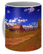 Tetons And Gambrel Barn Perspective Coffee Mug
