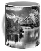 Tetons In Black And White Coffee Mug