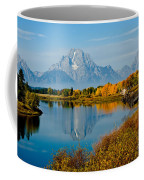 Tetons With Moose Coffee Mug