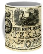 Texas Banknote, 1840 Coffee Mug