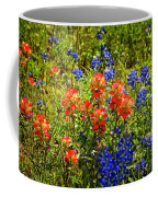 Texas Bluebonnets And Red Indian Paintbrush Coffee Mug