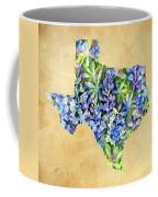Texas Blues Texas Map Coffee Mug