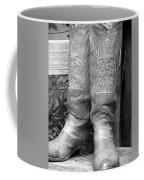 Texas Boots Portrait - Bw 03 Coffee Mug