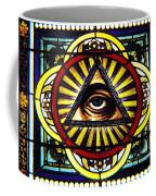 Eye Of Providence Texas Church Window Coffee Mug