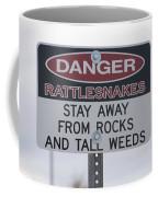 Texas Danger Rattle Snakes Signage Coffee Mug