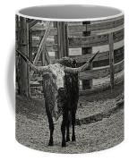 Texas Longhorn Black And White Coffee Mug