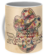 Texas Rangers Vintage Art Coffee Mug