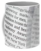 Text And Eyeglasses Coffee Mug