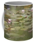 Textured Lilies Image  Coffee Mug