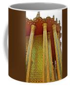 Thai-kmer Pagoda Columns At Grand Palace Of Thailand In Bangkok Coffee Mug