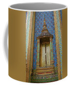 Thai-kmer Pagoda Window At Grand Palace Of Thailand In Bangkok Coffee Mug