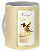 Thank You Card - Bird - Hummingbird Coffee Mug