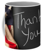 Thank You Sign On Chalkboard Coffee Mug