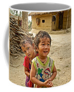 Tharu Village Children Love To Greet Us-nepal- Coffee Mug