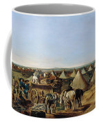 The 10th Regiment Of Dragoons Arriving Coffee Mug by A.E. Eglington