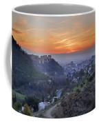 The Alhambra And Granada At Sunset Coffee Mug