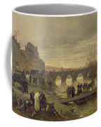 The Ambulance De La Presse At Joinville During The Siege Of Paris Oil On Canvas Coffee Mug